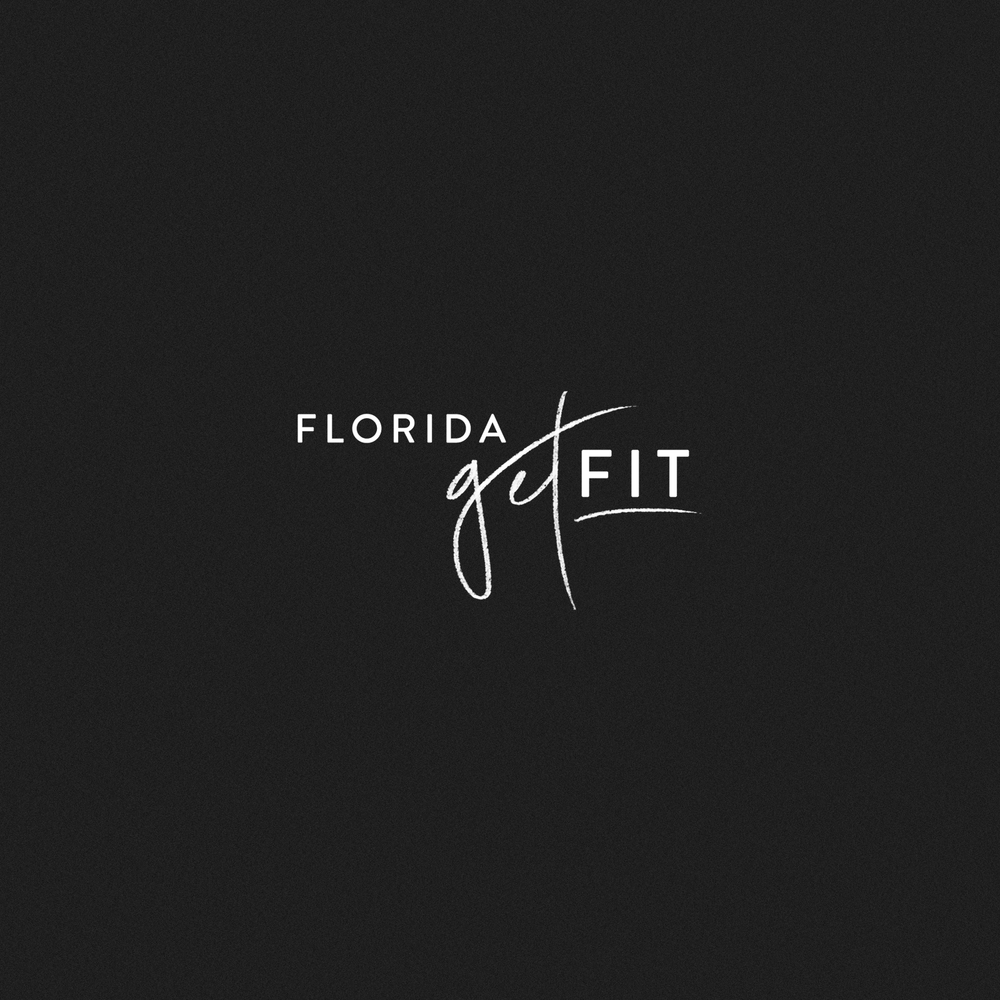 Florida Get Fit Logo by Mel Volkman Fitness Logo Fitness Brand Modern Fitness Logo Health Logo Nutrition Brand.png