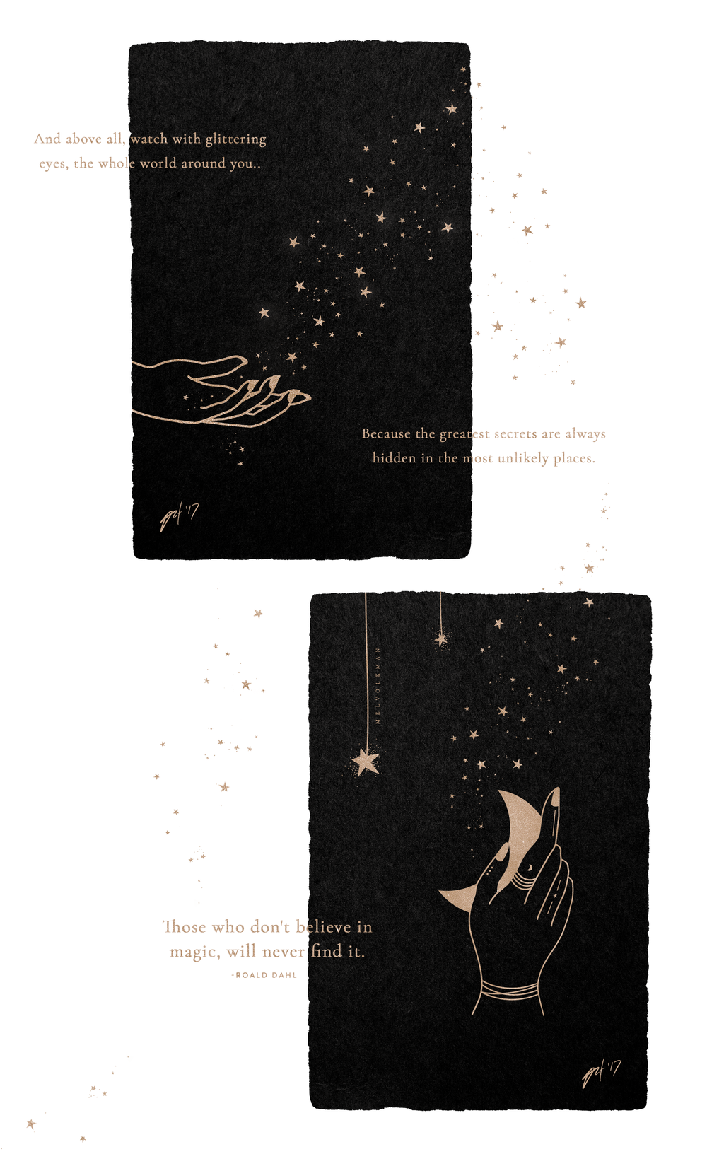 Those Who Don't Believe In Magic Illustration by Mel Volkman Hand Moon Hand Stars Celestial Illustration Esoteric Illustration Magical Illustration Witchy Illustration 3.png