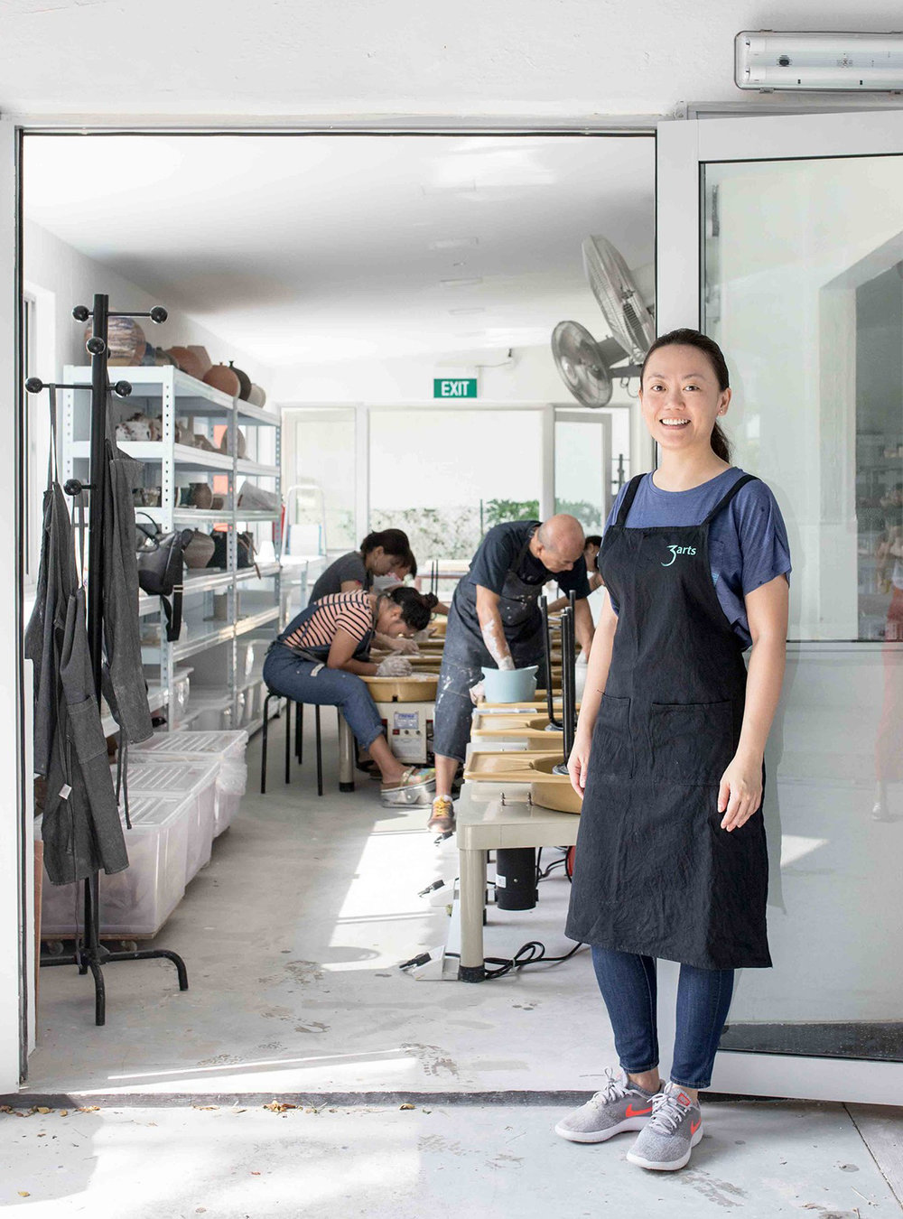 """How did you get started with pottery? - """"Center Pottery is the fruit of my work experiences and my passion.I started pottery at the University of Pennsylvania as part of my Japanese Studies undergraduate programme. I fell in love with pottery because I was able to use my hands to create something functional and utilitarian.As a former national sailor for Singapore, I enjoy fixing things with my hands, so I gravitated to this artform.I often hear people describe pottery as therapeutic so combining the two (medicine and pottery) came as a lightbulb moment for me. Pottery is a laborious process but I believe the benefits are worth the effort!"""""""