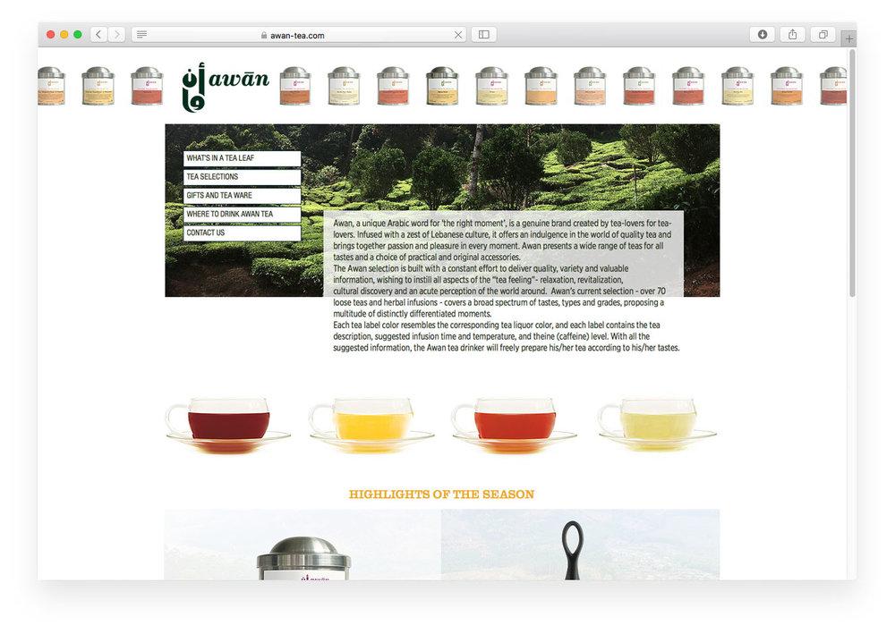 Awan Tea website