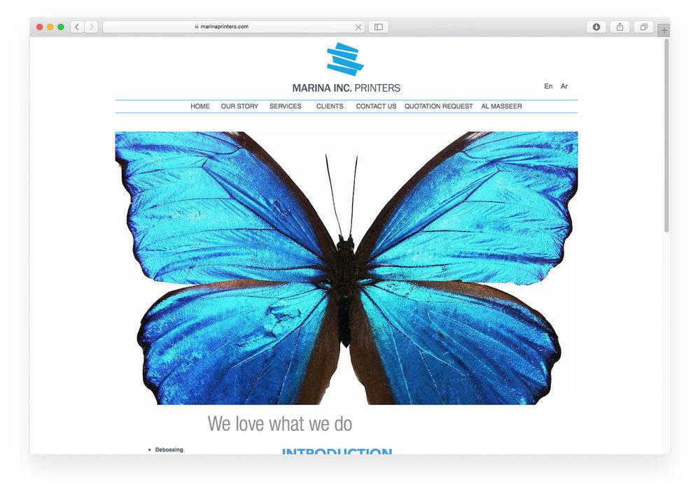 Marina Inc. website