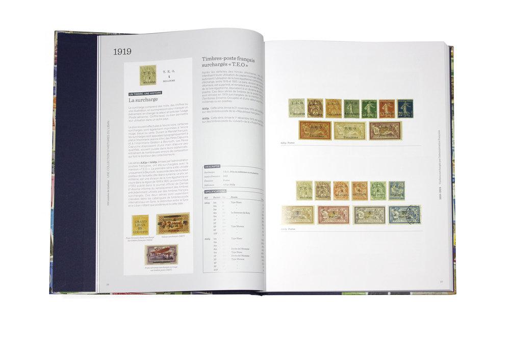 100 années de timbres   Une collection d'histoires du Liban