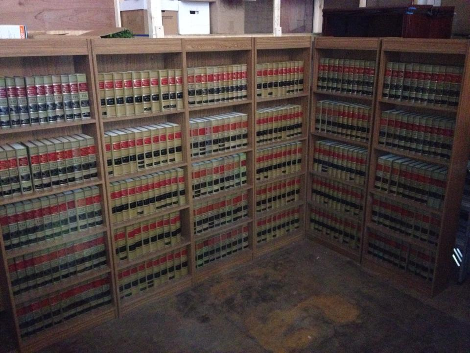 Here is some of our inventory of faux law books available for rent.
