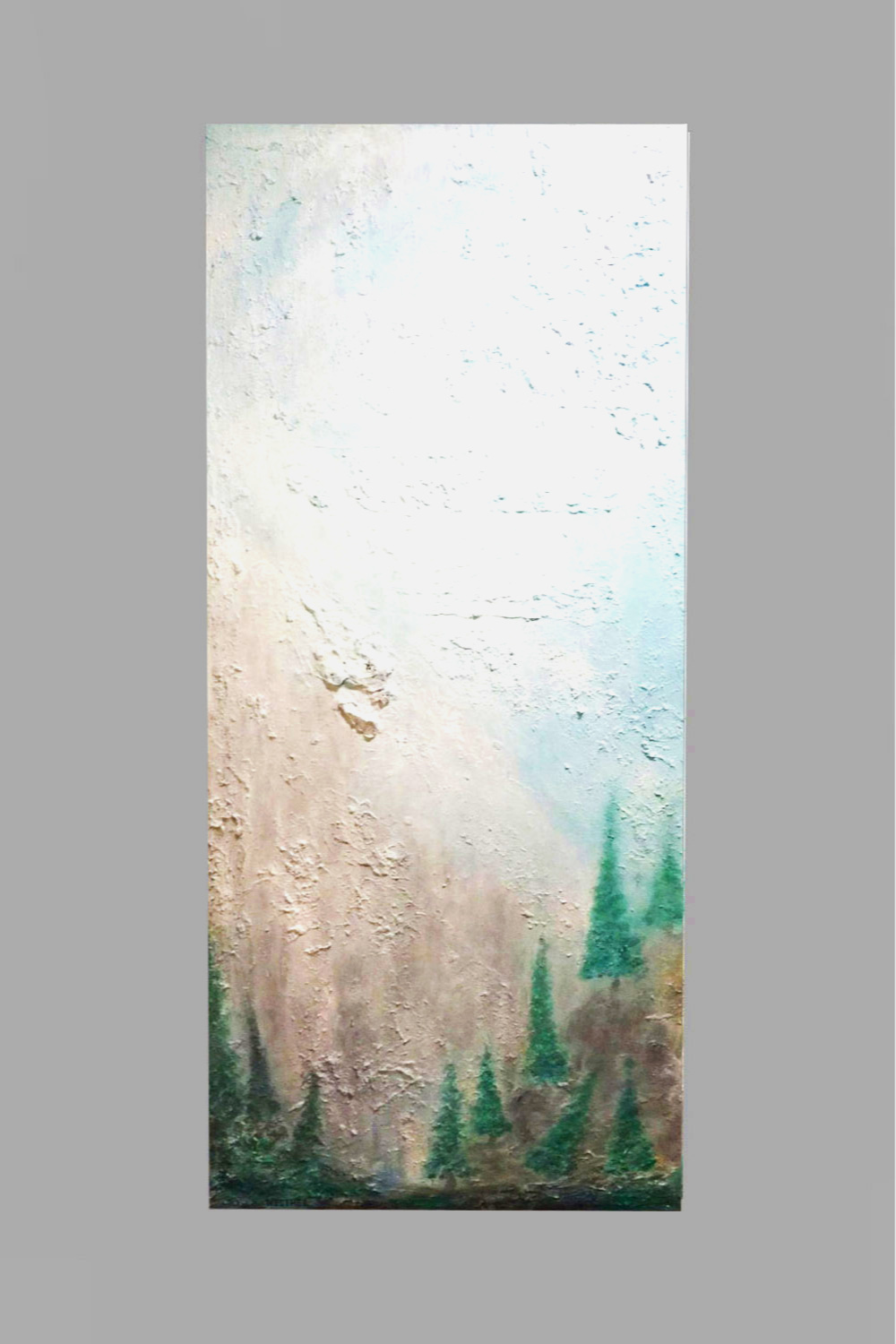"""Forest and the Fog 20""""x45"""" $80/wk"""