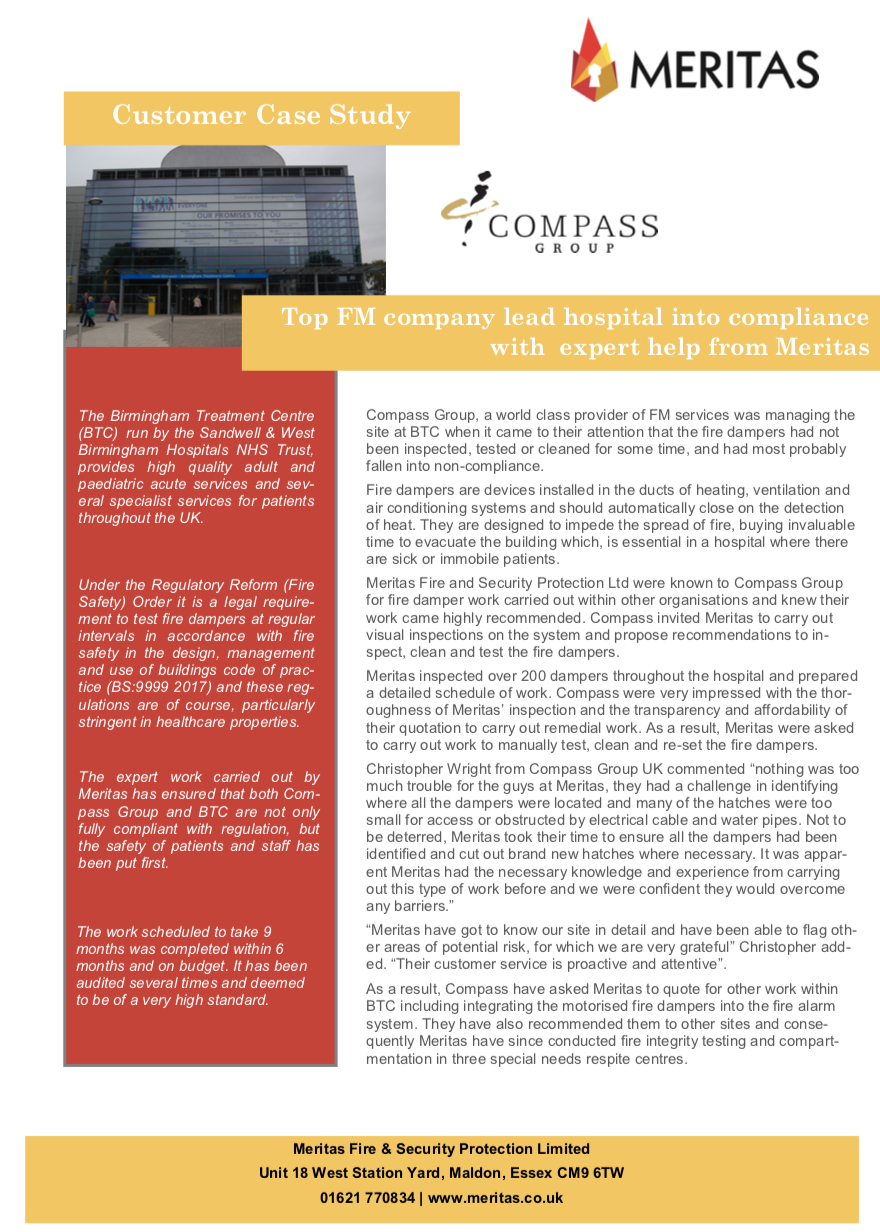 Compass Group - Case Study