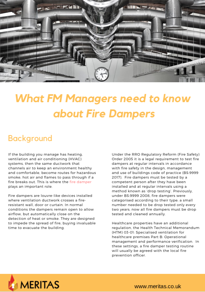 What FM Managers need to know about Fire Dampers
