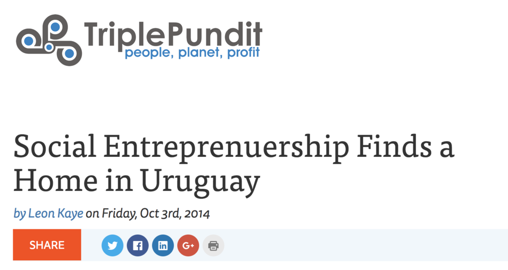 Social Entreprenuership Finds a Home in Uruguay -