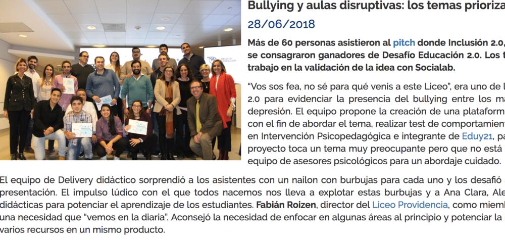 Bullying y aulas disruptivas: los temas priorizados en la final -