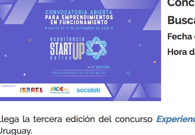 Concurso Startup Nation 2018 -