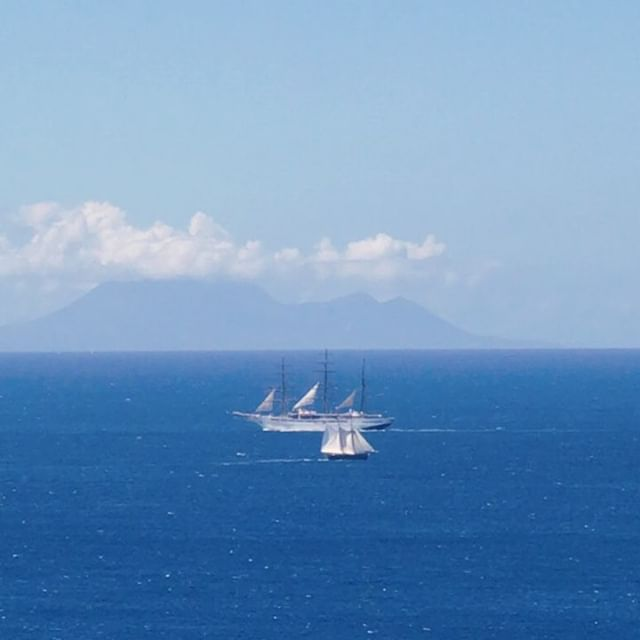 ... and if the wind is right you can sail away and find tranquility. . . .  #adventurerediscovered #caribbean #picoftheday #sailing #bliss #montserrat #sailboat #scuba (of course)