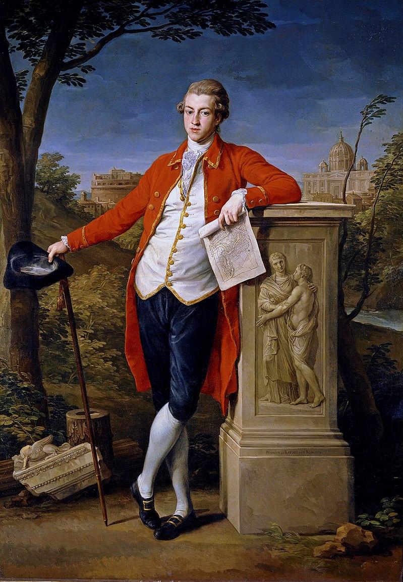 Francis Basset on the Grand Tour in Rome (Artist - Pompeo Batoni 1778)