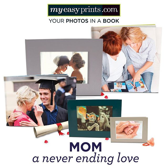 """Mothers hold their children's hands for a short while, but their hearts forever."" Happy Mother's Day to all you moms out there! #mothersday #mom #lovemom #loveyourmom #loveallmoms #sayitwithphotos #photobook #photobooks #picturingmylife #myeasyprints"