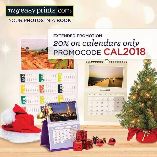 A photo calendar is another picture-perfect gift that you can enjoy all year long! Go to www.myeasyprints.com: a few clicks and pictures are all you need! Upon order, don't forget to enter the voucher code CAL2018 for a 20% discount! Valid until December 21 #photobook #calendar #myeasyprints #christmasgift #christmasgiftsideas #sayitwithphotos