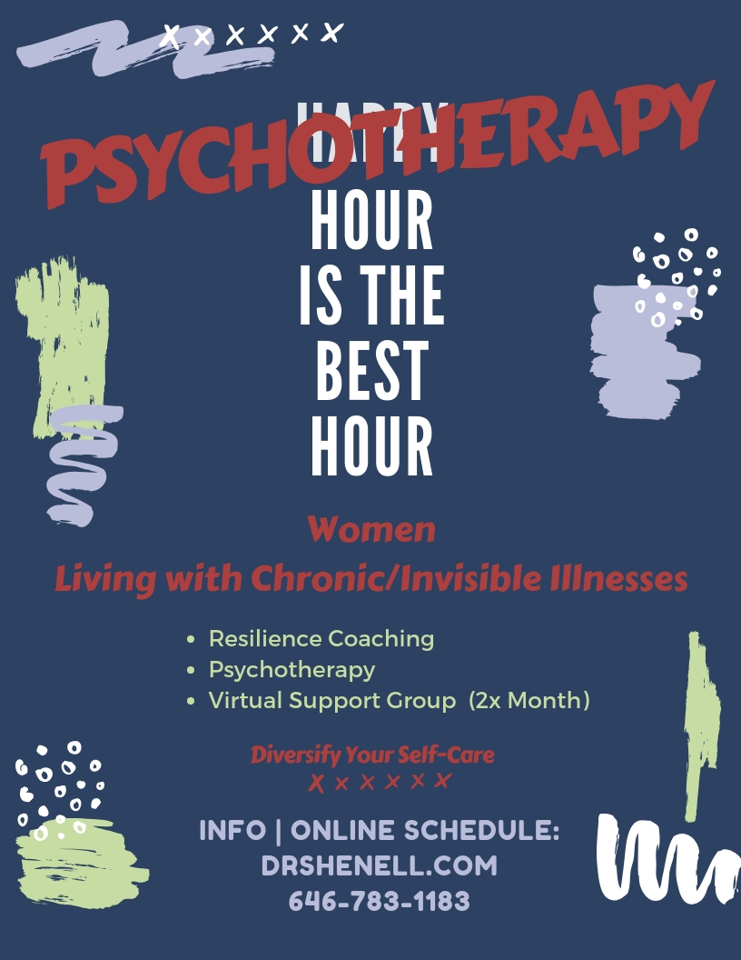 Living with Chronic/Invisible Illnesses - Resilience Coaching, Psychotherapy, Virtual Support Group