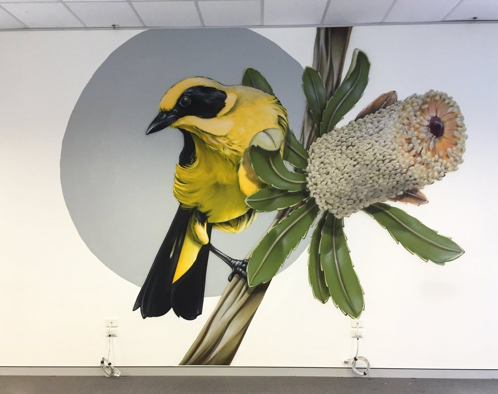 Recent mural for the Wacom ANZ head office
