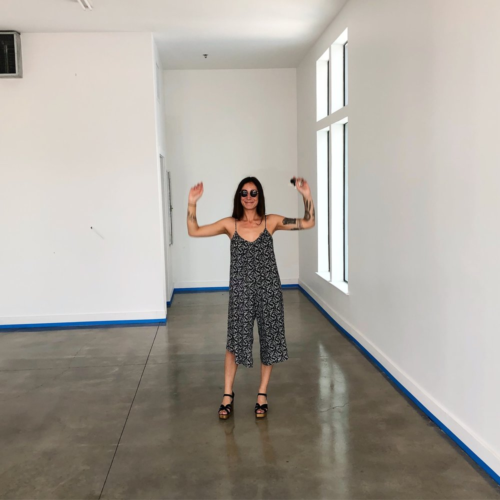 This is the day I got the keys to my space. I had a blank slate, and I was definitely more nervous than excited!