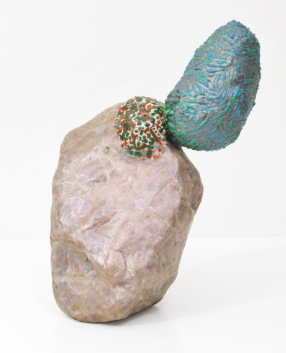 The Other - plaster, stone, acrylic, papier maché | 15 8 x 7 inches