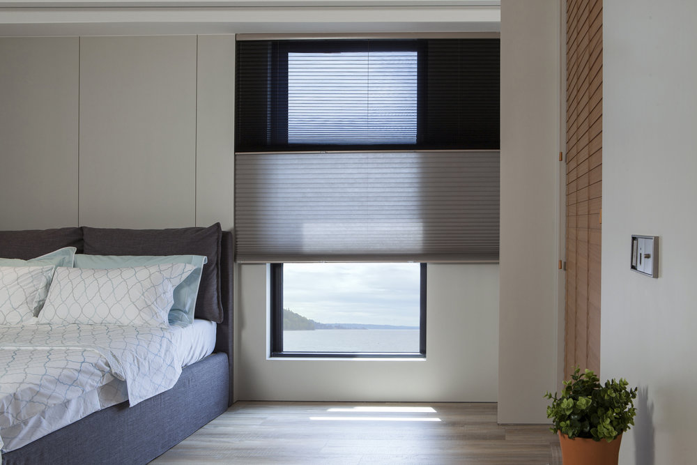 Honeycomb shades - from sheer to opaque