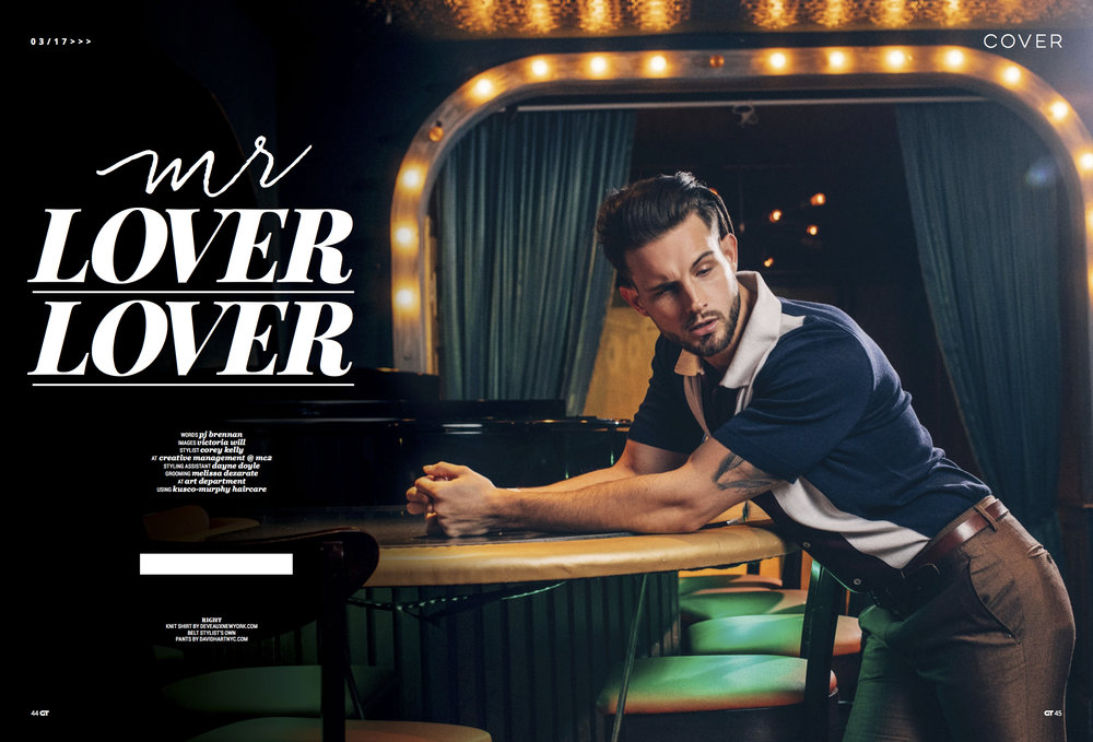 'mr. lover lover', an editorial by victoria will - A Gay Times Magazine Exclusive #StyledByCoreyKelly