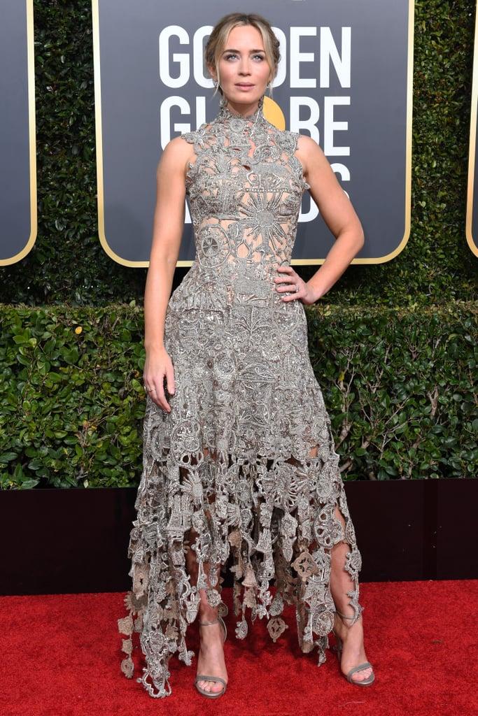 Emily Blunt in custom Alexander McQueen