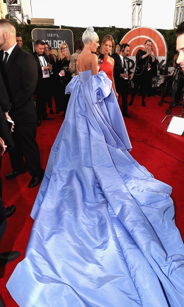 Lady Gaga wearing custom Valentino Couture