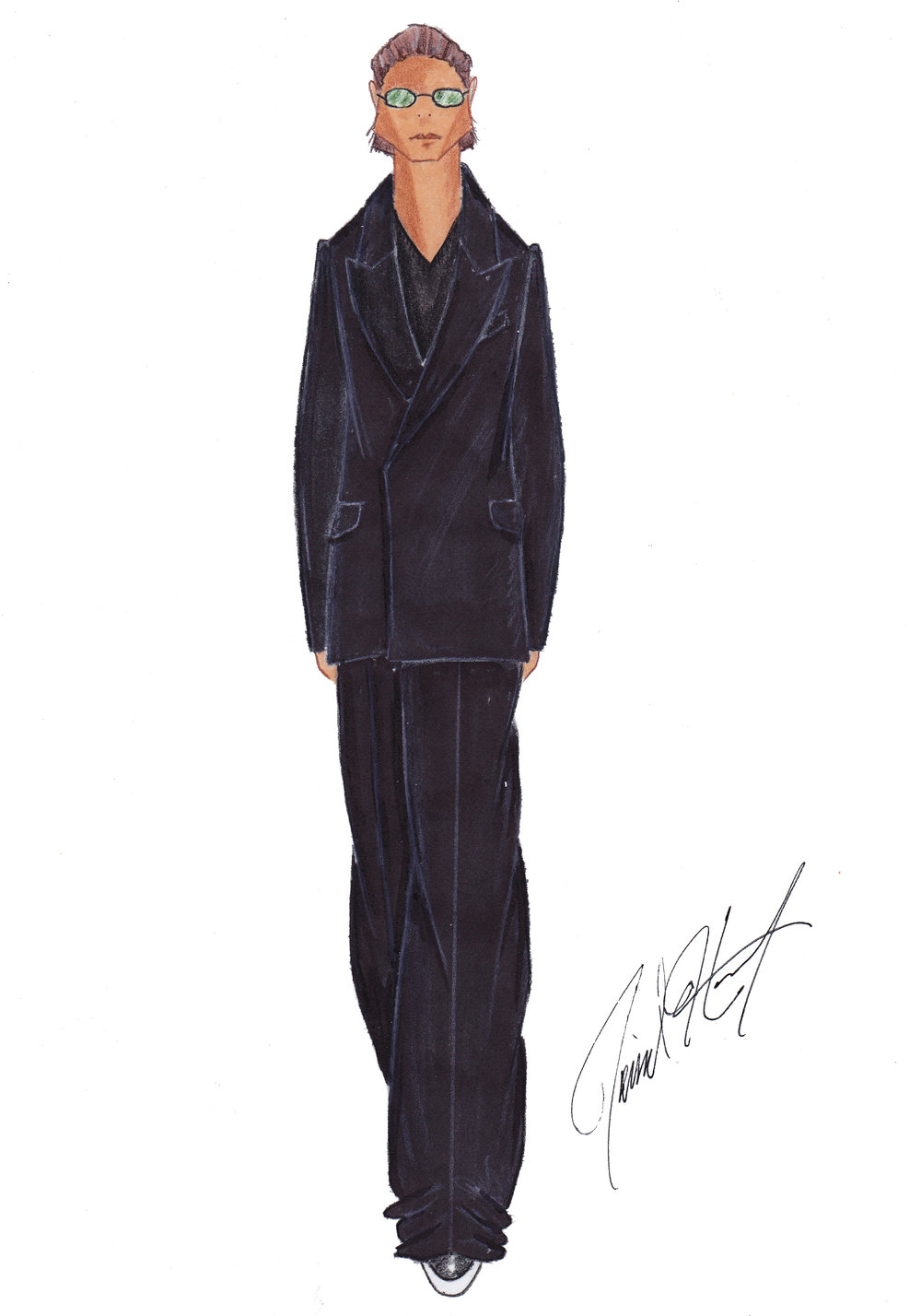(Above): Sketch from David Hart's fall 2019 collection