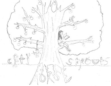 Ari's pencil sketch