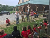 Gaining Ground Farm staff introduce the farm?s mission and history to the youth