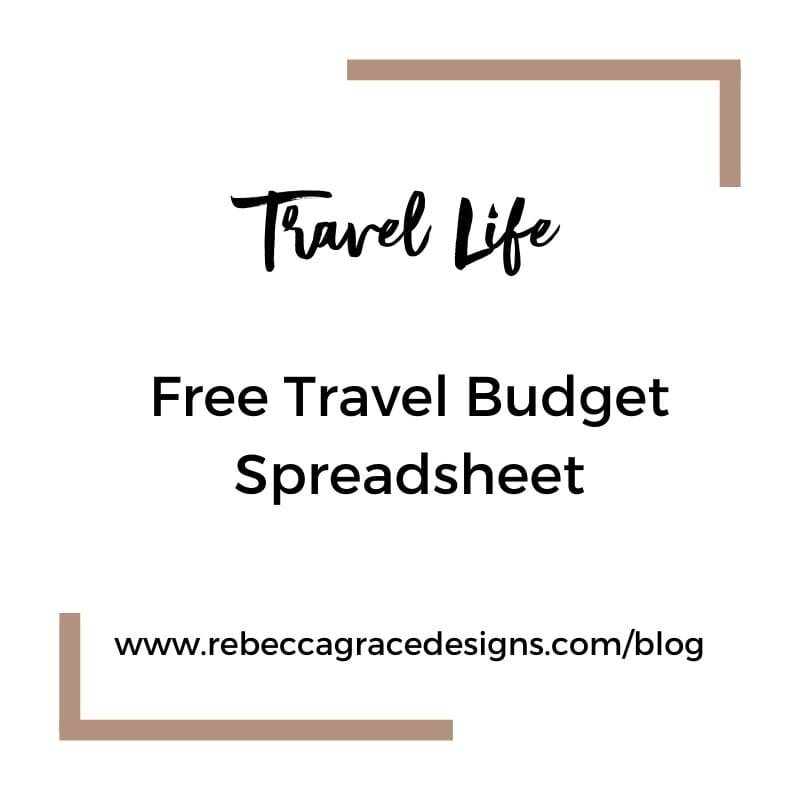 Free Travel Budget Spreadsheet | Rebecca Grace