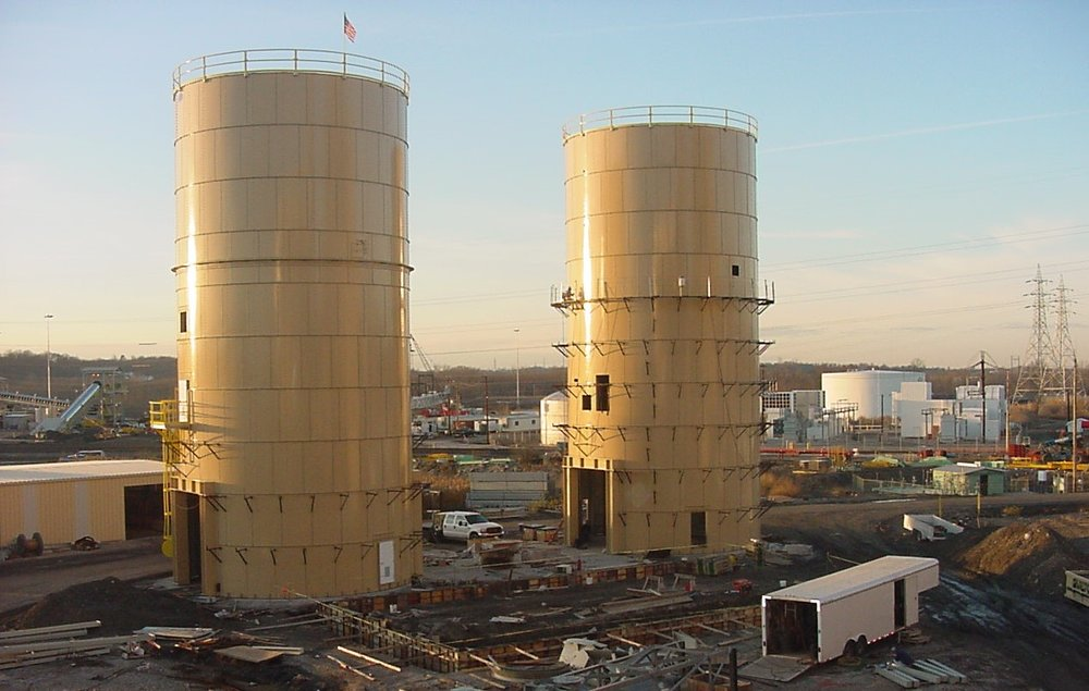 Dry fly ash tanks  building 12-3-01.jpg