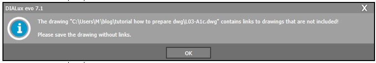 Error message in Dialux EVO