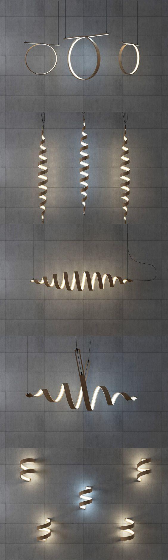 Twist lamps by Andrii Kovalskyi Photo:   yankodesign.com