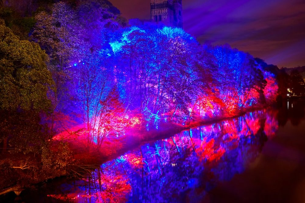 Frequencies, by the Finnish artist    Kari Kola   , on the banks of the river Wear Photo:   The Guardian