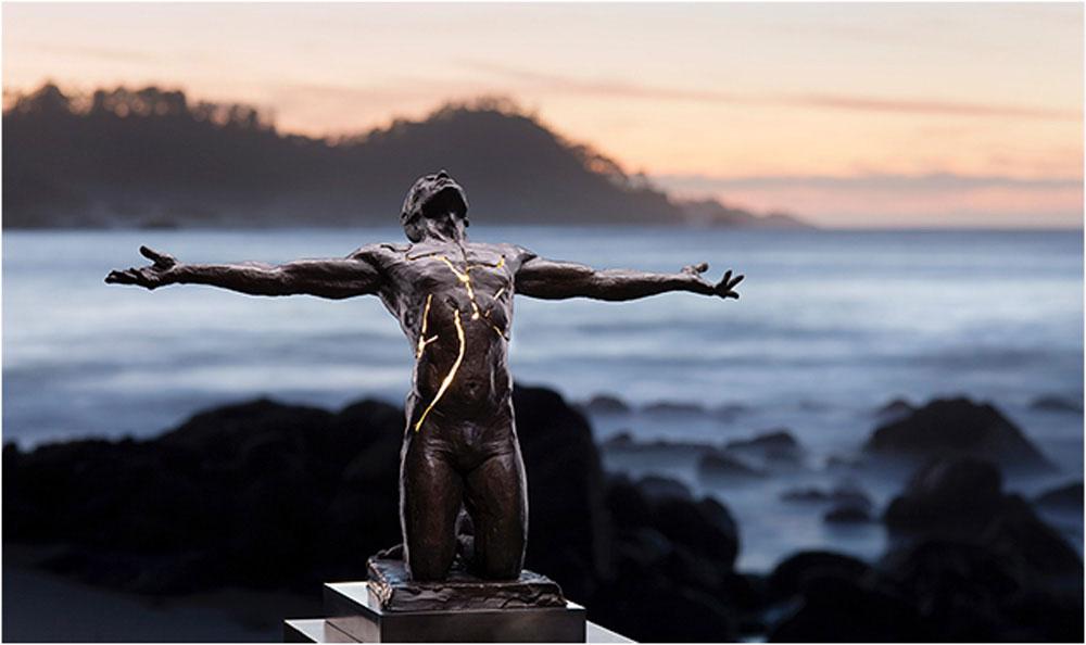 Illumination | Bronze with Electricity. Photo:   http://paigebradley.com