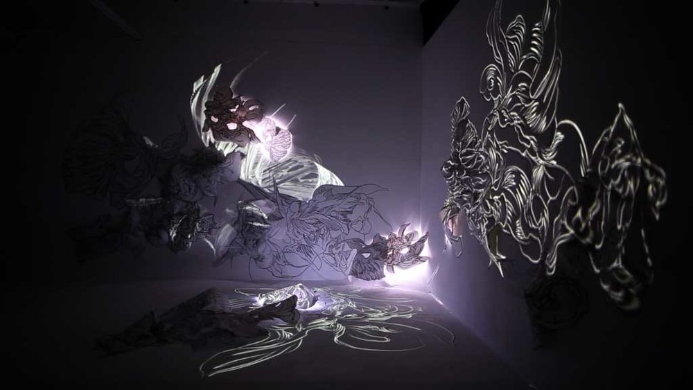 Sougwen Chung, Chiaroscuro Installation. Photo:    http://sougwen.com