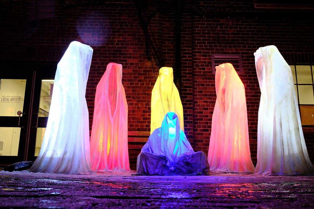 Toronto Light Fest, Guardians of Time, Manfred Kielnhofer. Photo:   kielnhofer.at
