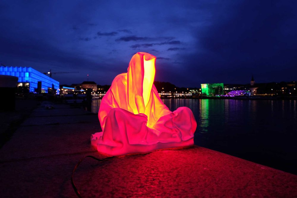 Guardians of Time, Photo:    Light Art Biennial contemporary art design architecture