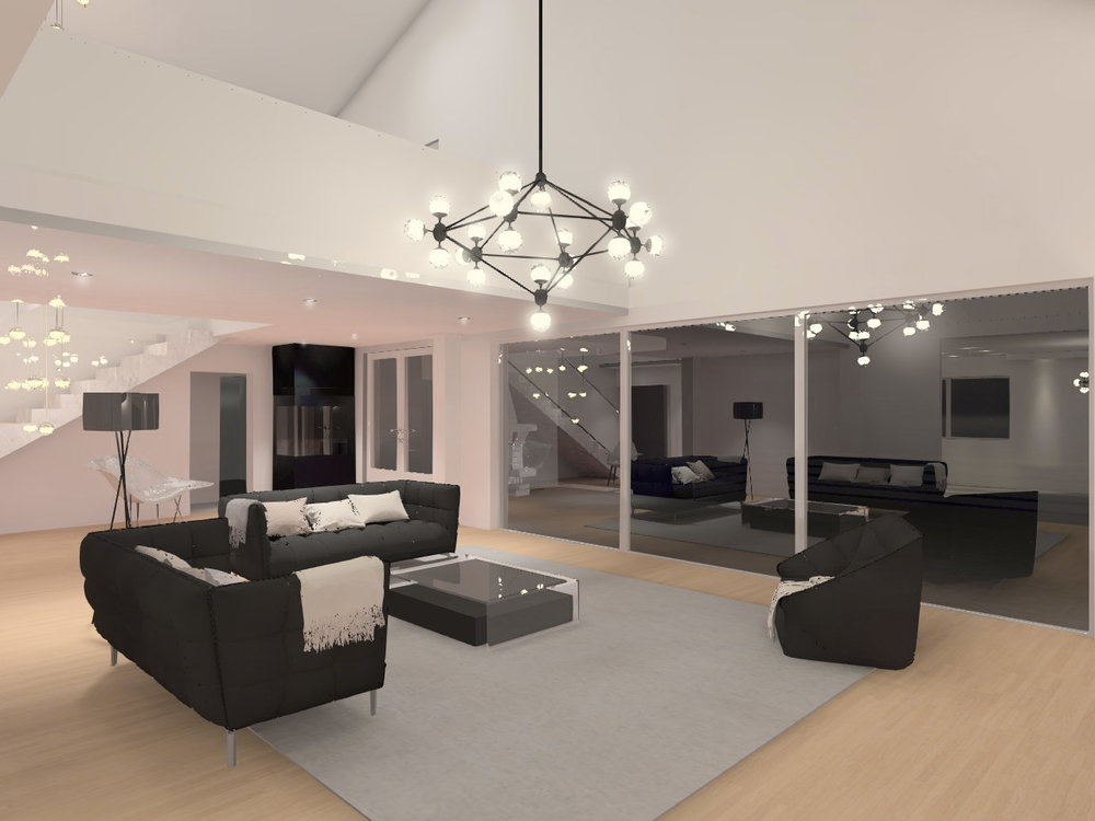 Living room - lighting visualization
