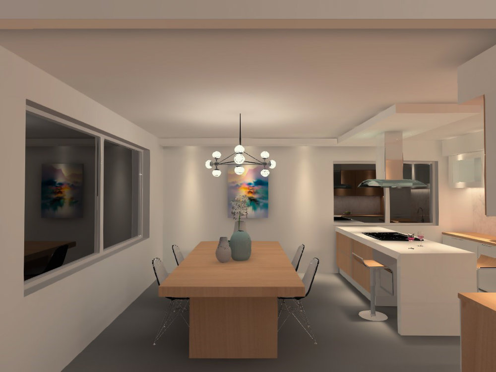 Dining room - lighting visualization