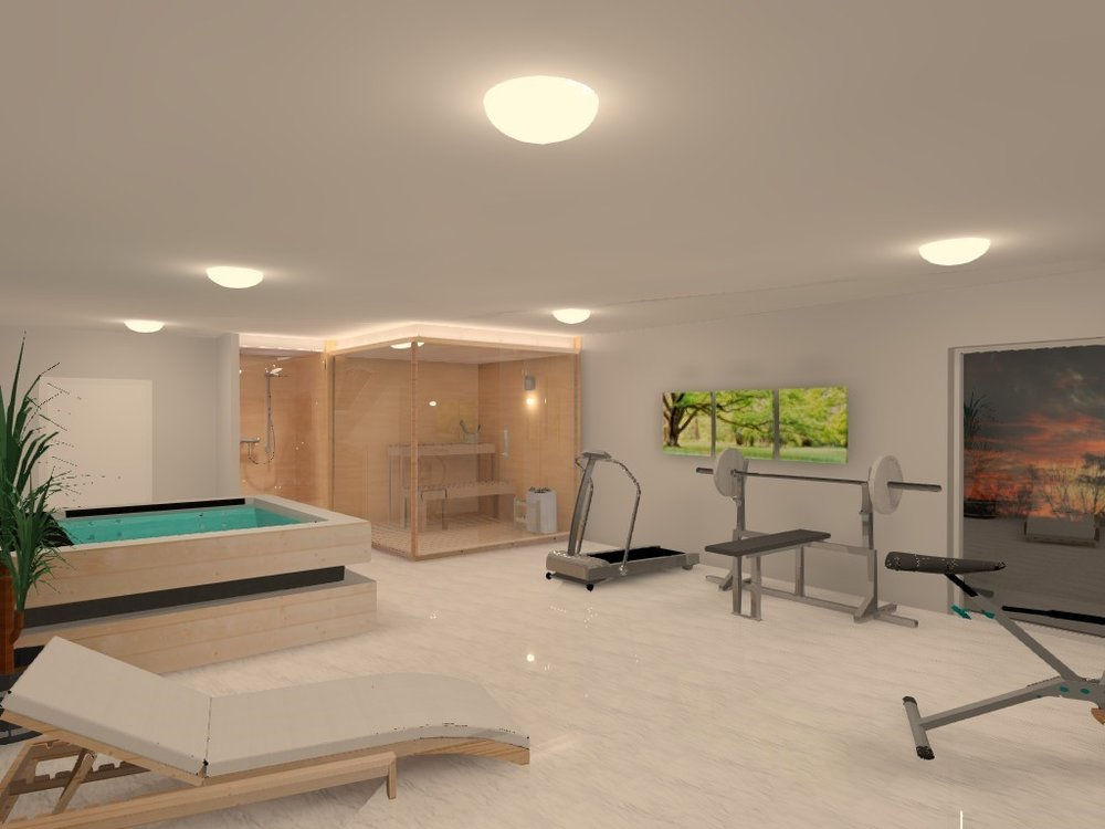 Wellness / spa / gym visualization