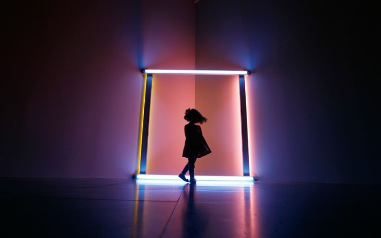 "Dan Flavin 1966-1968. - Untitled (to the ""innovator"" of the Wheeling Peachblow)  Photo:  tmlarts.com"