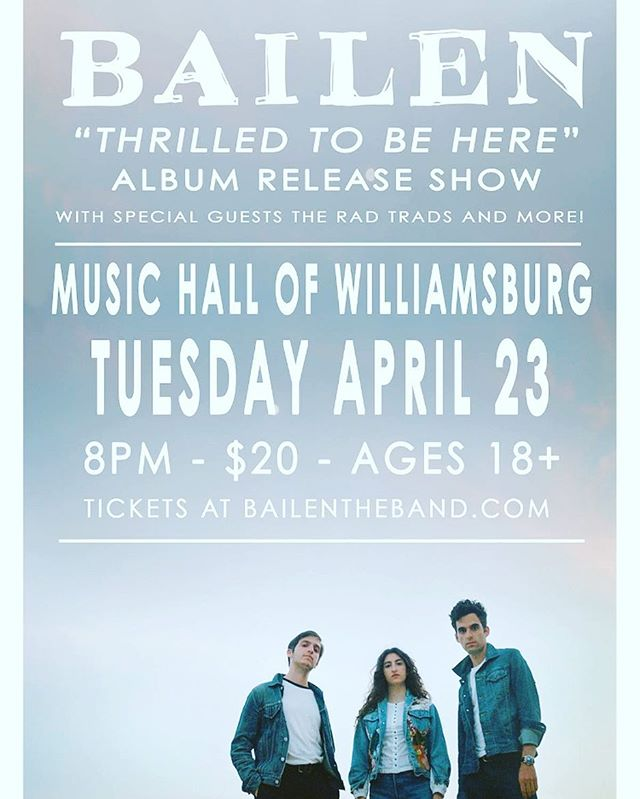 THIS IS TUESDAY!!! W/ @theradtrads. For the first time ever, we are having our parents string quartet accompany us on a few songs from the upcoming album. We are so excited to see you there! LINKinBiO. #bloodharmonies