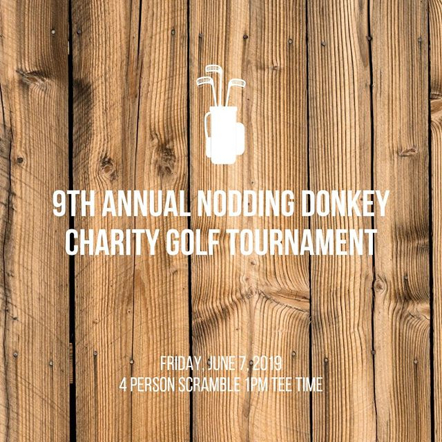 Register today for the Nodding Donkey Annual Golf Tournament in June! https://buff.ly/2Uz7MpF