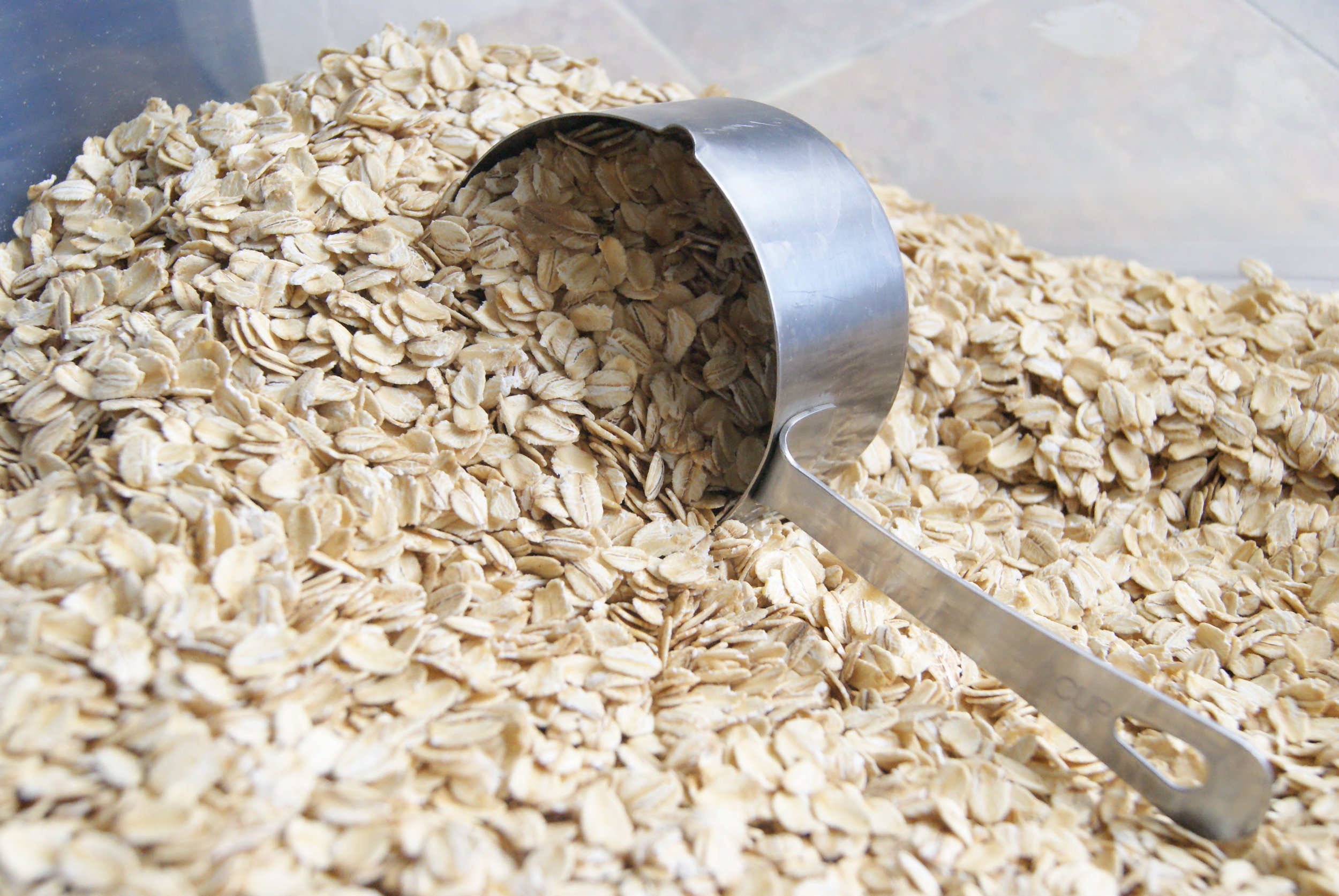 We have a big ol' container of rolled oats, so nice to have on-hand for baking!