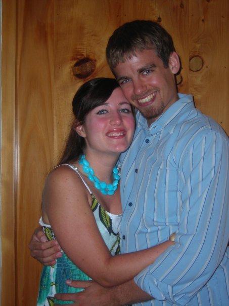 On our honeymoon, 2007.