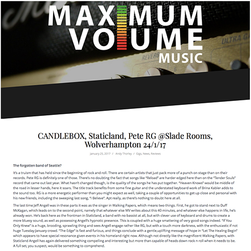 Maximum Volume   January 2017
