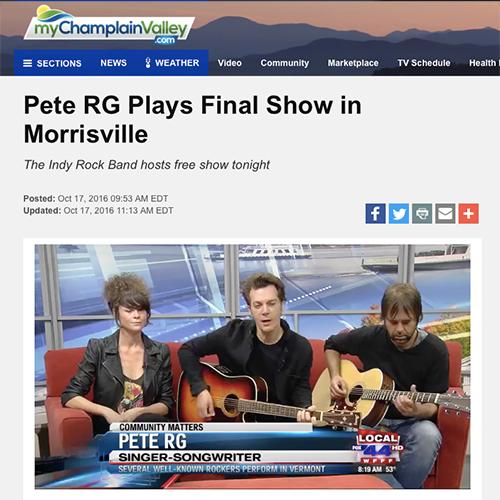 Fox TV Burlington VT   October 2016