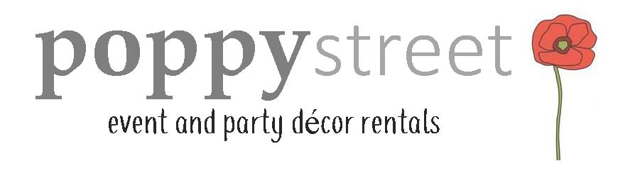 Poppy Street Event Decor Rentals