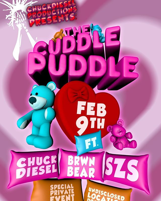 We back for the 2nd annual Cuddle Puddle!! Come free, come comfy, and get ready to cuddle!! TICKETED ENTRY ONLY...Get your tickets now before it's too late, available at https://www.psgr.co/e/CA4KAAMMAQk