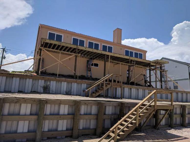 Building-width deck